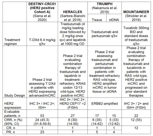HER2-expressing metastatic colorectal cancer