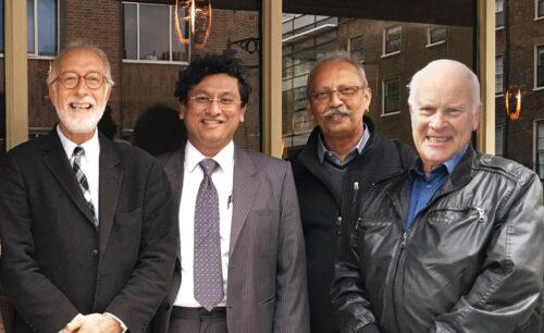 Prof Jeffrey S Tobias, Prof Jayant S Vaidya, Prof Max Bulsara and Prof Michael Baum