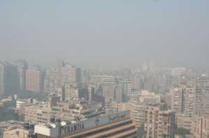 """Cairo Air Pollution with smog - Pyramids1"" by Nina Hale is licensed under CC BY 2.0"