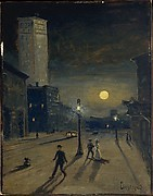 """New York at Night"" by Louis Michel Eilshemius (American, Newark, New Jersey 1864–1941 New York) via The Metropolitan Museum of Art is licensed under CC0 1.0"