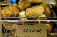 """Sesame Seed Bagel for Breakfast - 2/52 Weeks: 2014 Edition"" by Au Kirk is licensed under CC BY 2.0. To view a copy of this license, visit: https://creativecommons.org/licenses/by/2.0"