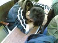 """""""Sleeping student, the spring edition"""" by Matthew Stinson is licensed under CC BY-NC 2.0"""
